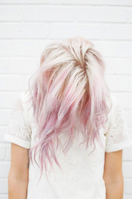 Pink, Pastel, Wavy, Short Hairstyles, Cutting, Blonde Hairstyles