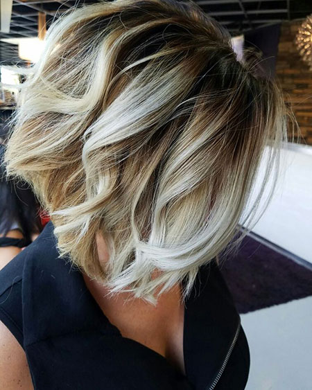Blonde Hairstyles, Dark, Balayage, Side, Short Hairstyles, Platinum