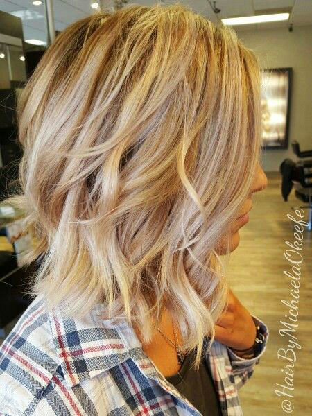 Blonde Hairstyles, Highlights, Layered, Balayage, Woman