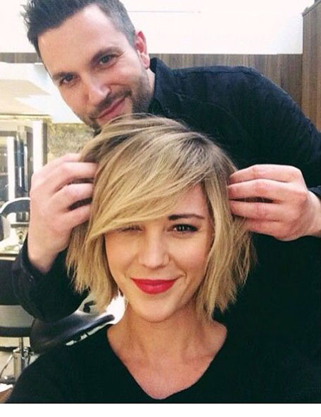 Short Hairstyles, Blonde Bob Hairstyles, Curly, Choppy, Wavy, Round, Face