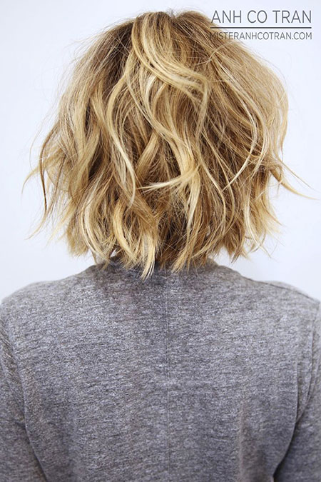 Blonde Bob Hairstyles, Short Hairstyles, Messy, Medium, Layered, Tran