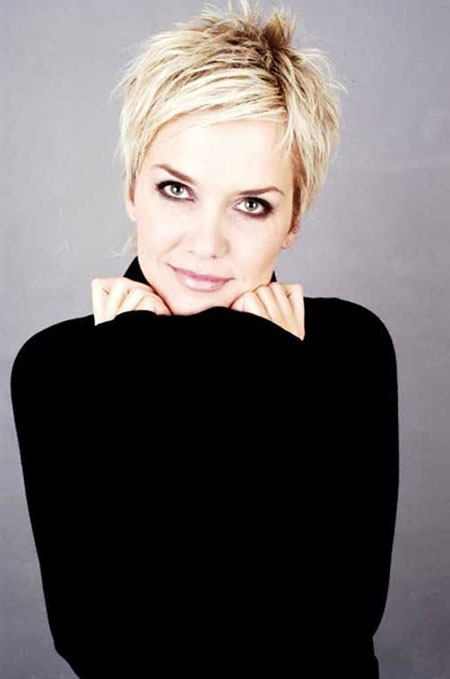 Short Hairstyles, Pixie Cut, Women, Messy, Haircut, Day