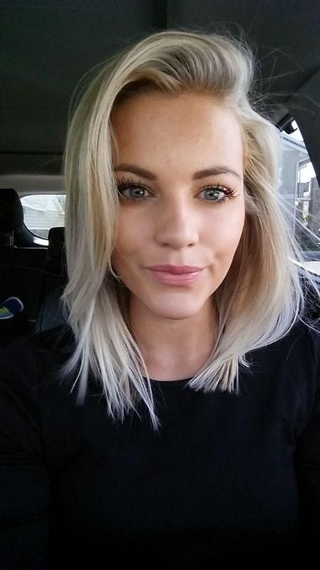 Blonde Hairstyles, White, Shoulder, Short Hairstyles, Lob