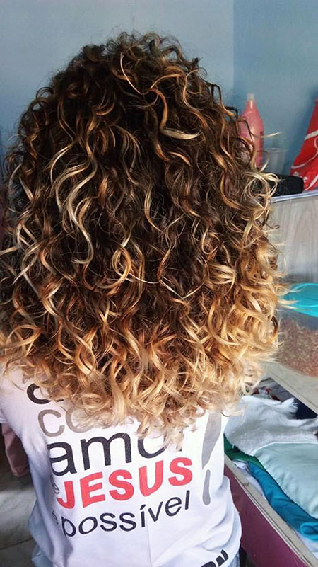 Curly, Perm, Ombre, Curls, Colorful, Balayage