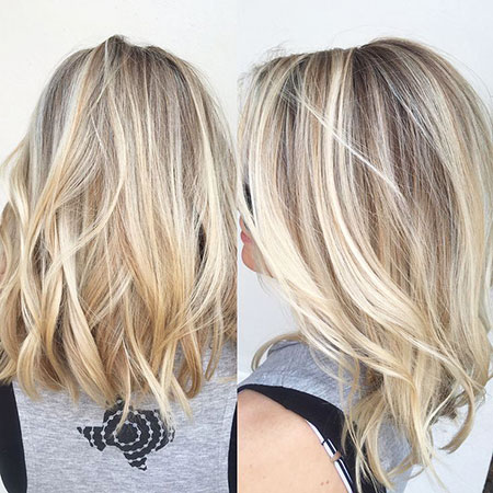 Blonde, Highlights, Balayage, Short, Curly, Colors