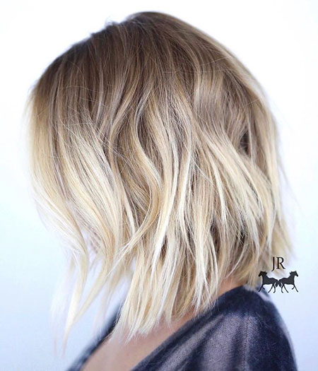Bob, Balayage, Blonde, Medium, Short, Longer, Length