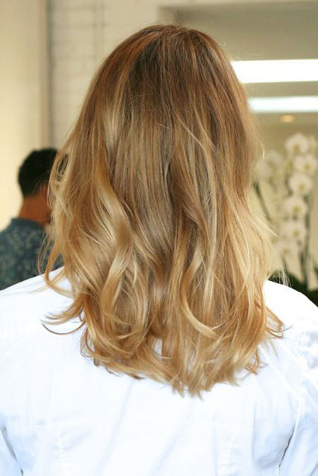Blonde, Honey, Ombre, Long, Highlights, Cute, Colored, Bob