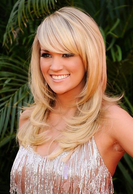 Bangs, Long, Layered, Women, Very, Underwood, Trendy, Simple