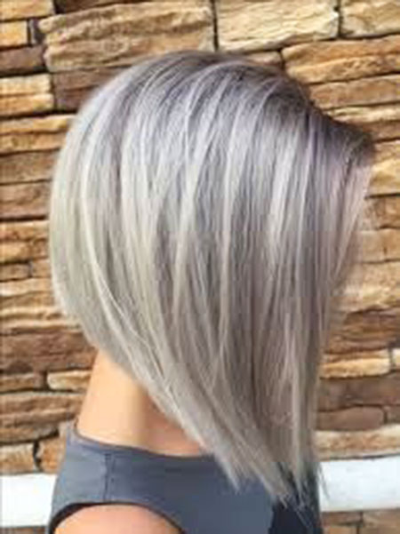 Silver, Bob, Blonde, Toned, Short, Layered, Haare, Grey, Gray, Graue, Bobs