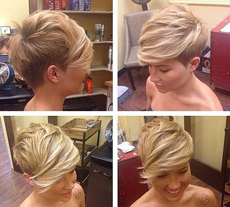 Short Hairstyles, Pixie Cut, Women, Trendy, Over, 2017