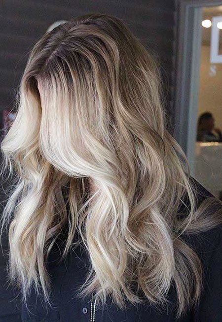 Blonde Balayage Ash Winter Ombre Long Ladies Dark