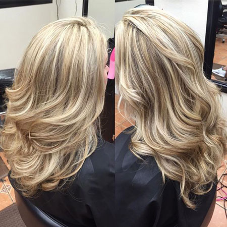 Blonde Highlights Lowlights Balayage