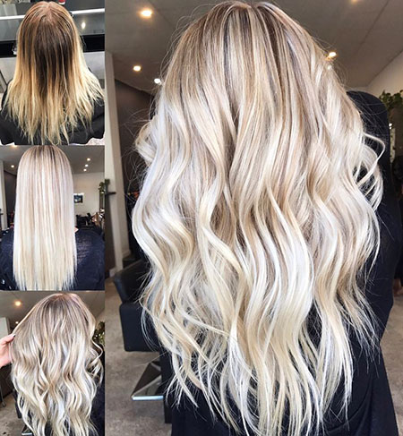 Blonde Balayage Long Tones Textured Golden Girl Face