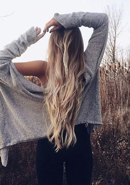 Long Blonde View Really Ombre Girl Braided Balayage 2017