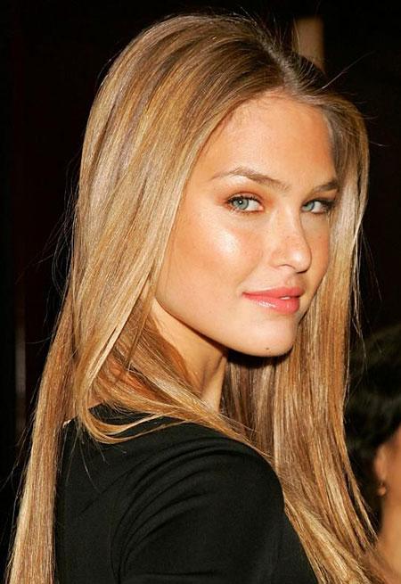 Blonde Long Locks Jennifer Dark Casual Caramel Back
