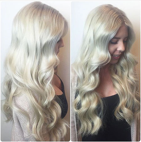 Blonde, Waves, Soft, Platinum, Curls, Tone, Shades, Long, İcy, İce, Balayage