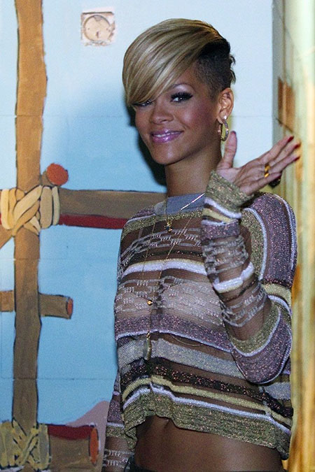 Short Hairstyles, Rihanna, Shaved, Blonde Bob Hairstyles