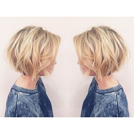 Short Hairstyles, Blonde Bob Hairstyles, Women, Thin, Round
