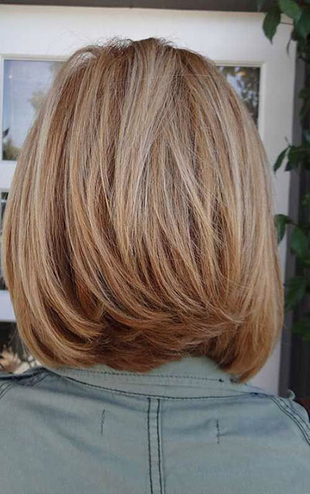 Blonde Bob Hairstyles, Layered, Women, Shoulder