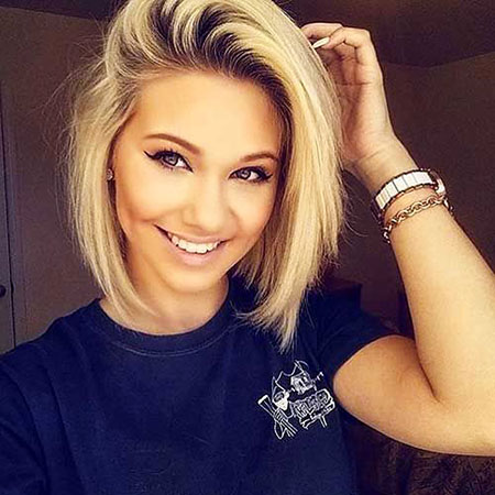 Short Hairstyles, Round, Women, Waves, Soft, Sleek, Simple, Over
