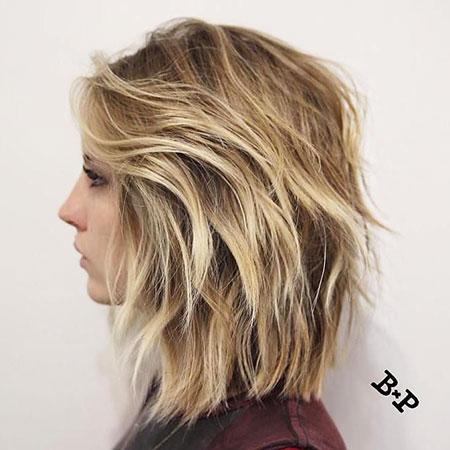 Blonde Bob Hairstyles, Short Hairstyles, Lob, Layered, Balayage, 20