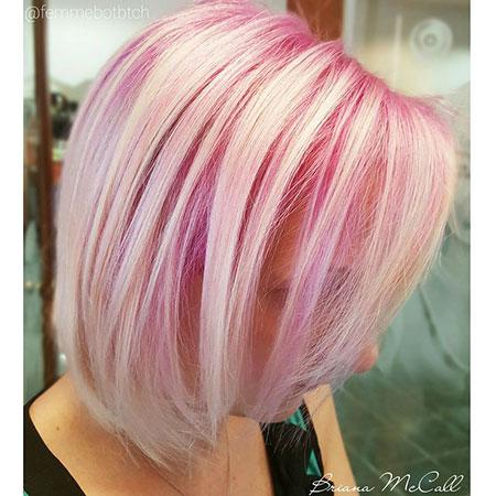 Blonde Hairstyles, Blonde Bob Hairstyles, Pink