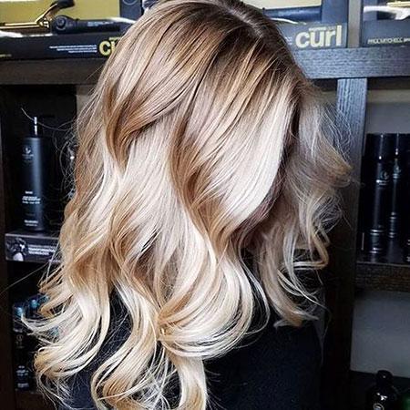Blonde, Platinum, Ash, Waves, Textured, Sleek, Medium