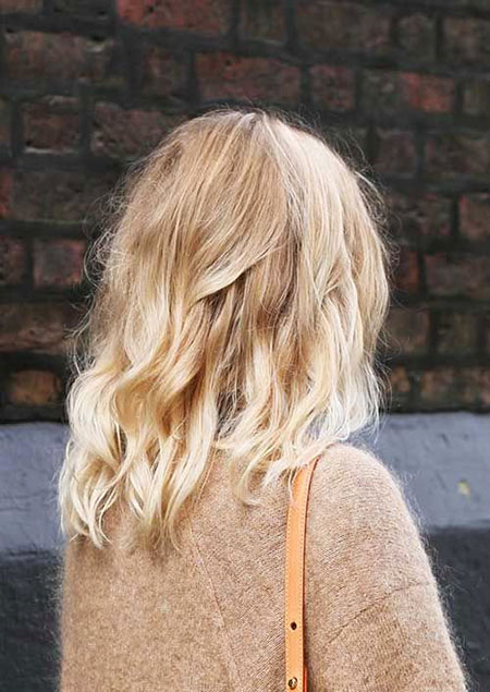 Blonde, Blond, Balayage, Medium, Long, Length, Cute