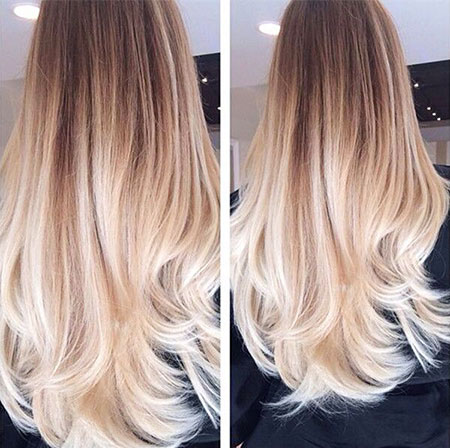 Blonde Balayage Straight Some One Ombre Natural Long Dye