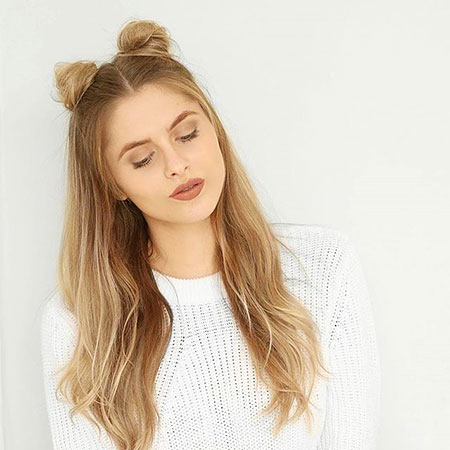 Up Long Half Daily Bun Blonde Asos Accessories
