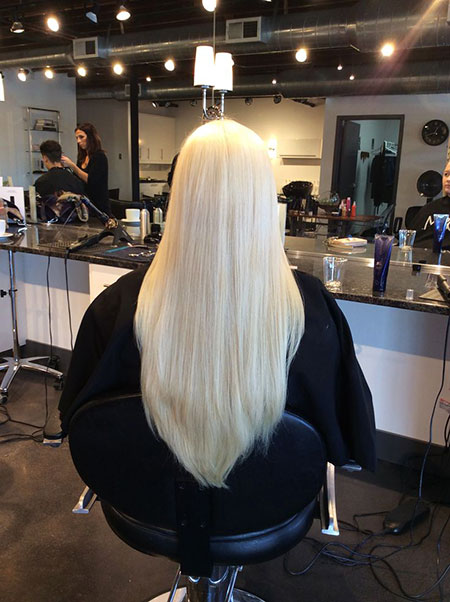 Blonde Platinum Highlights Ombre Long Ice Balayage