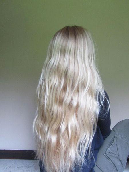 Blonde Balayage Wavy Ombre Long Fashion Colour