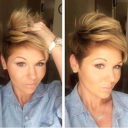 Short Hairstyles, Pixie Cut, Layered, Kapsels, Bangs, 2017