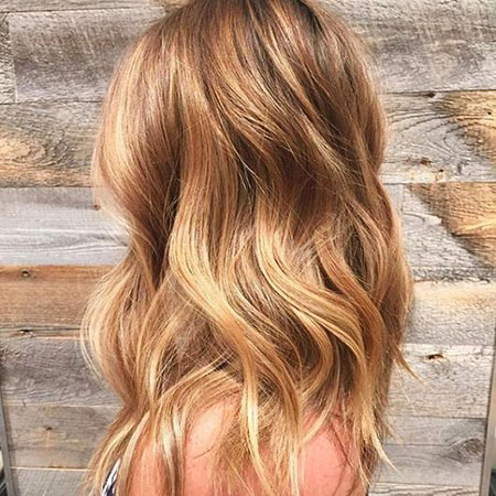 Blonde Hairstyles, Balayage, 2017, Wavy, Simple, Side