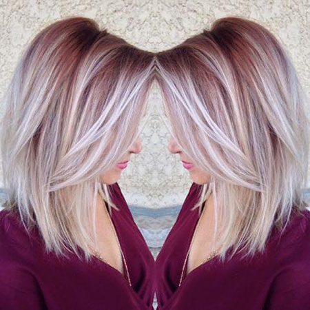 Blonde, Balayage, Women, Summer, Short, Funky, Fall