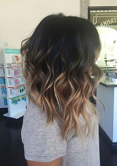Balayage, Long, Bob, Side, One, Ombre, Highlights, Colour