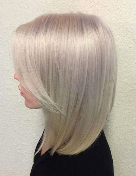 Blonde, Platinum, Silver, Highlights, Bobs, Bob, Balayage, Ash