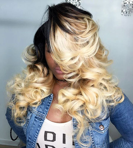 Blonde Sew Wedding Ombre Weave Part Middle Long High