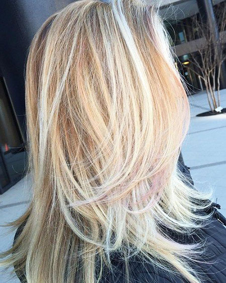 Blonde, Highlights, Balayage, Trends, Sleek, Long, Layers