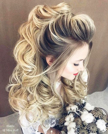 Wedding, Long, Updo, Over, Braided