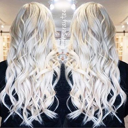 Blonde Platinum Balayage White Ombre