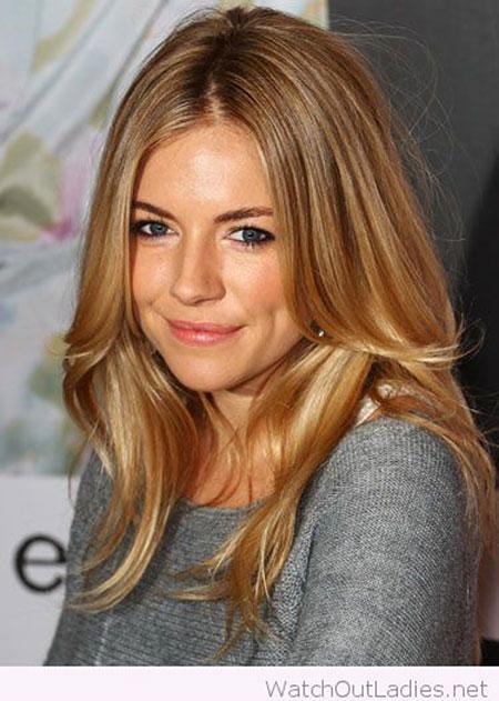 Blonde Sienna Miller Long Layered Jennifer Honey Golden