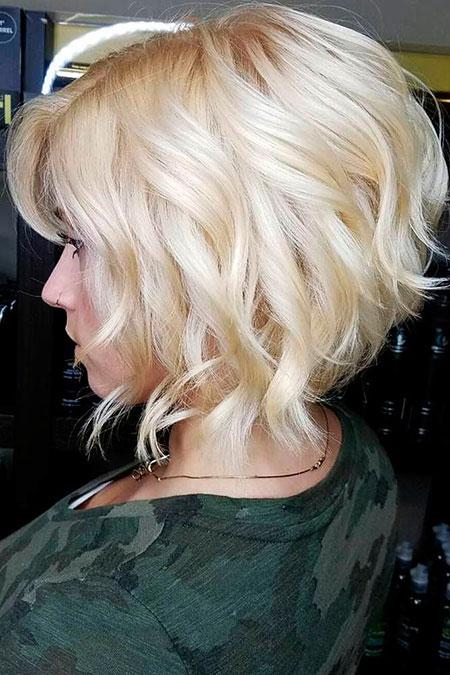 Blonde Bob Hairstyles, Short Hairstyles, Platinum, Messy, Layered