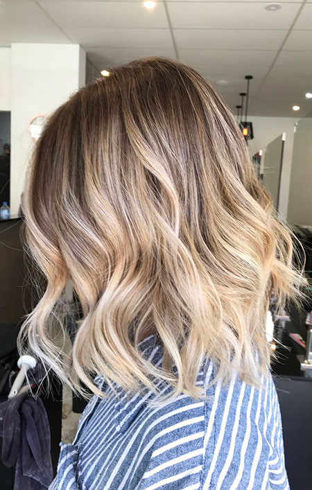 Blonde, Balayage, Short, Ombre, Highlights, Tones, Textured