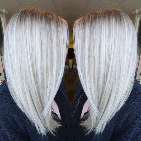 Blonde, Platinum, Balayage, White, Icy