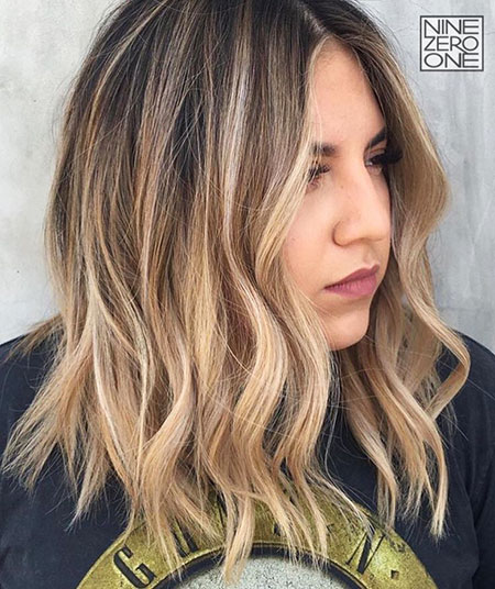 Blonde, Balayage, Lob, Summer, Ombre, Mid, Light, Highlights, Bobs
