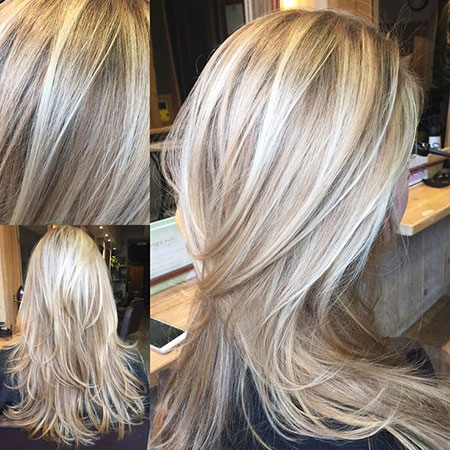 Blonde Balayage Highlights Platinum Lowlights Guest
