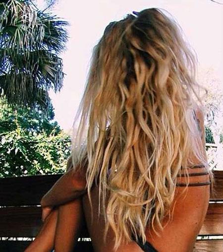 Blonde Beach Long Waves Wavy