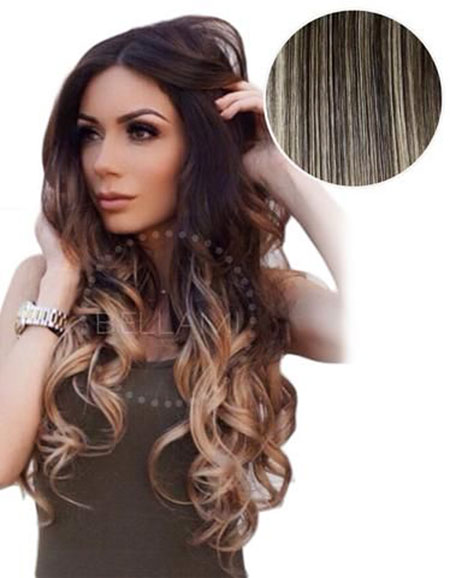 Balayage Ombre Long Dirty Curls Brown Blonde