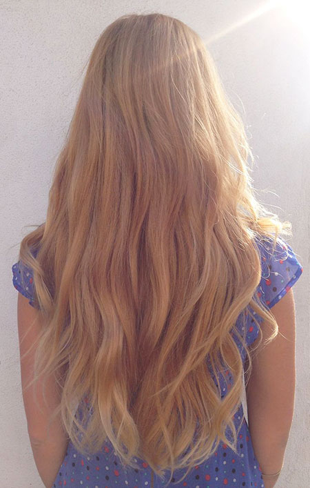 Blonde, Ombre, Long, Highlights, Balayage, Strawberry